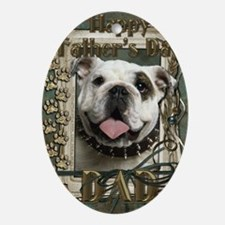 Stone_Paws_Bulldog_Lt_Dad Oval Ornament