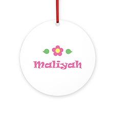 "Pink Daisy - ""Maliyah"" Ornament (Round)"