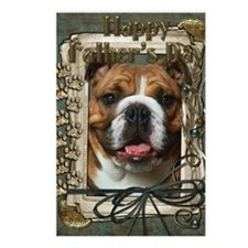 Stone_Paws_Bulldog_Dk Postcards (Package of 8)