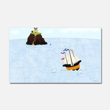 Sailing by the Castle 5 x 4 Car Magnet 20 x 12