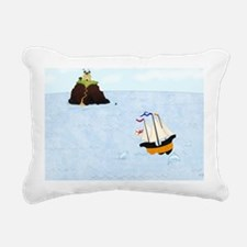 Sailing by the Castle 5  Rectangular Canvas Pillow