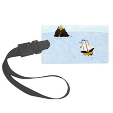 Sailing by the Castle 5 x 4 Luggage Tag