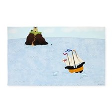 Sailing by the Castle 5 x 4 3'x5' Area Rug