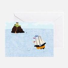 Sailing by the Castle 5 x 4 Greeting Card