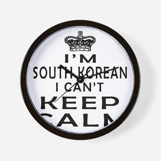 I Am South Korean I Can Not Keep Calm Wall Clock