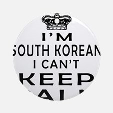 I Am South Korean I Can Not Keep Calm Ornament (Ro