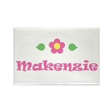 "Pink Daisy - ""Makenzie"" Rectangle Magnet"