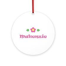 "Pink Daisy - ""Makenzie"" Ornament (Round)"