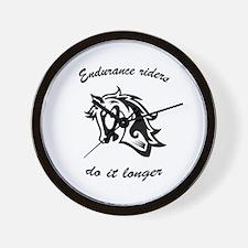 Cute Endurance riders Wall Clock