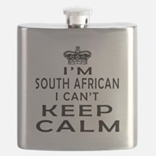 I Am South African I Can Not Keep Calm Flask
