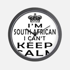 I Am South African I Can Not Keep Calm Wall Clock