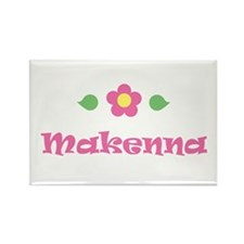 "Pink Daisy - ""Makenna"" Rectangle Magnet"