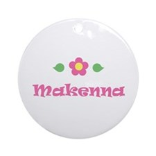 "Pink Daisy - ""Makenna"" Ornament (Round)"