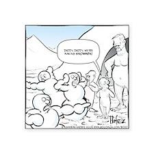 "Abominable Snowmen Final Square Sticker 3"" x 3"""