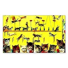 Vintage Cat Circus Act Decal