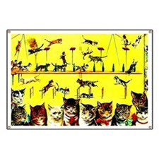 Vintage Cat Circus Act Banner