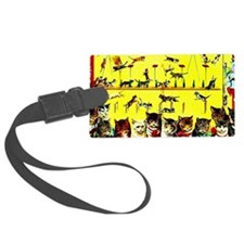 Vintage Cat Circus Act Luggage Tag
