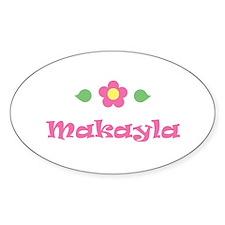 """Pink Daisy - """"Makayla"""" Oval Decal"""