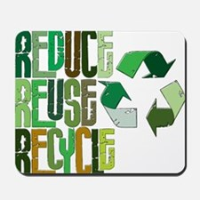 reduse reuse recycle Mousepad