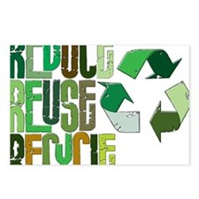 reduse reuse recycle Postcards (Package of 8)
