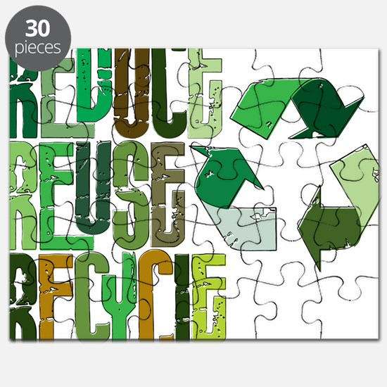 reduse reuse recycle Puzzle