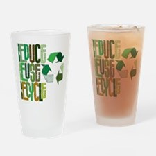 reduse reuse recycle Drinking Glass