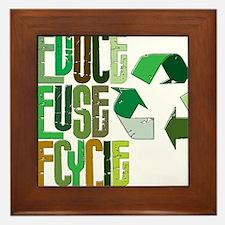 reduse reuse recycle Framed Tile