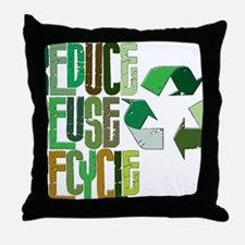 reduse reuse recycle Throw Pillow