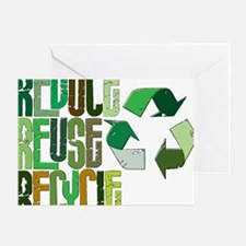 reduse reuse recycle Greeting Card