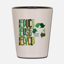 reduse reuse recycle Shot Glass