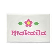 "Pink Daisy - ""Makaila"" Rectangle Magnet"