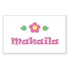 "Pink Daisy - ""Makaila"" Rectangle Decal"