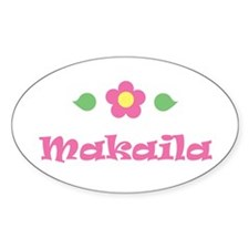 "Pink Daisy - ""Makaila"" Oval Decal"