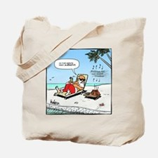 Santa on the Beach Final Tote Bag