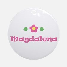 """Pink Daisy - """"Magdalena"""" Ornament (Round)"""
