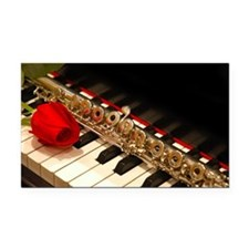 Flute Rectangle Car Magnet