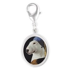 Bully With the Pearl Earring Silver Oval Charm