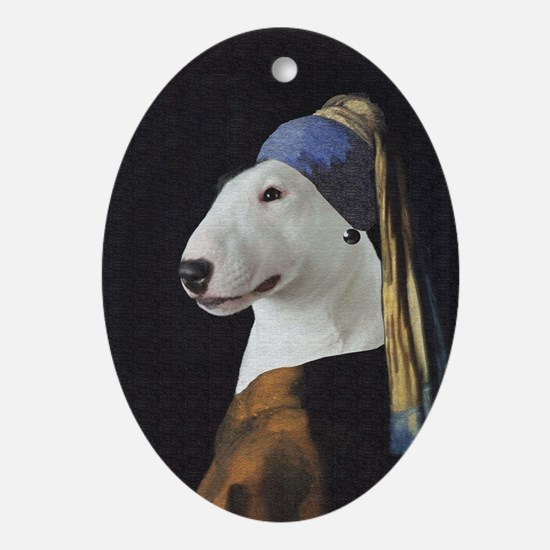 Bully With the Pearl Earring Oval Ornament