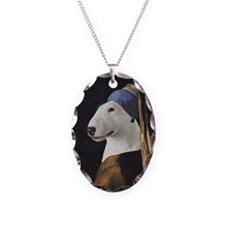 Bully With the Pearl Earring Necklace Oval Charm