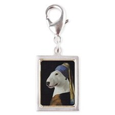 Bully With the Pearl Earring Silver Portrait Charm