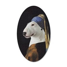 Bully With the Pearl Earring 35x21 Oval Wall Decal