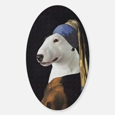 Bully With the Pearl Earring Sticker (Oval)