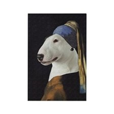 Bully With the Pearl Earring Rectangle Magnet