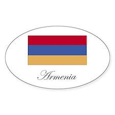 Armenia - Armenian Flag Oval Decal