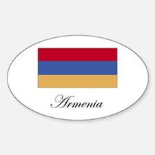Armenia - Armenian Flag Oval Decal