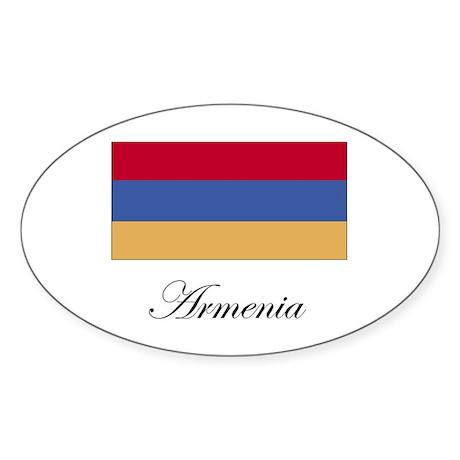 Armenia - Armenian Flag Oval Sticker