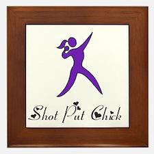 Shot Put Chick Framed Tile