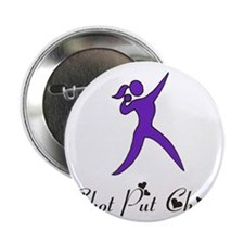 "Shot Put Chick 2.25"" Button"