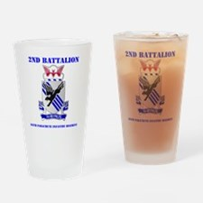 DUI- 2-505TH PIR WITH TEXT Drinking Glass