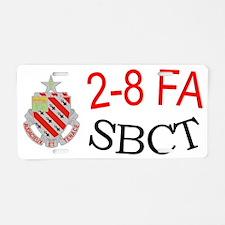 2-8 fa cap1 Aluminum License Plate